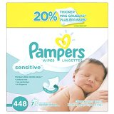 Pampers Baby Wipes Sensitive, 448 Count $11.64